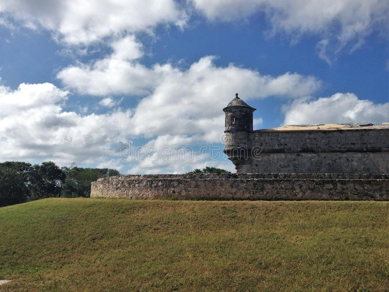 Old Castle in Campeche. Ancient old castle in Campeche royalty free stock photo