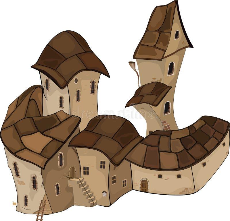 The old Castle. Cartoon vector illustration