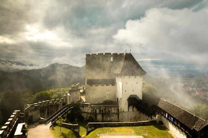 Old Castle of Celje, Slovenia royalty free stock photos