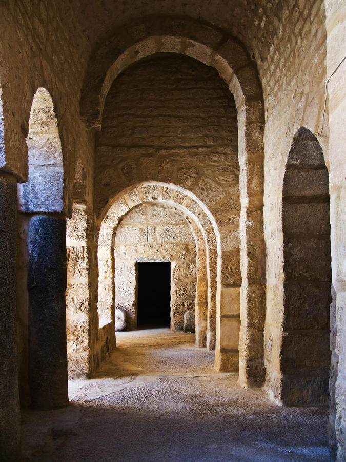 Old castle entrance. Construction in north Africa royalty free stock images