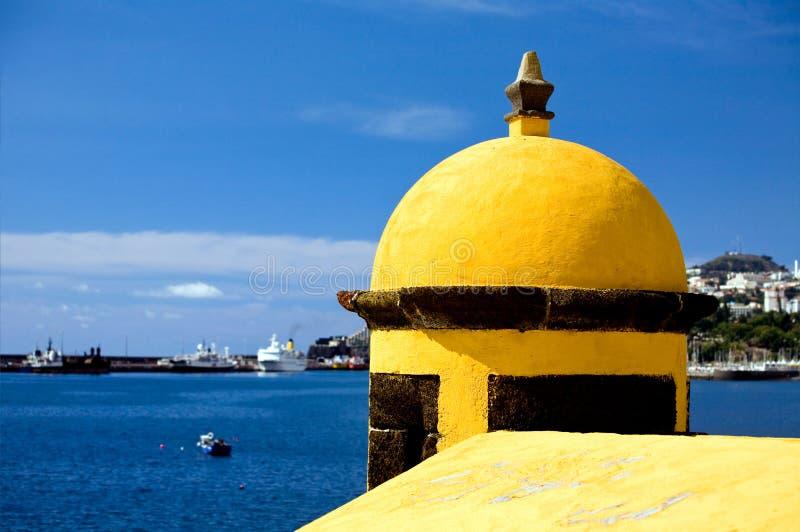 Old castle Fortaleza de Sao Tiago in Funchal royalty free stock photo