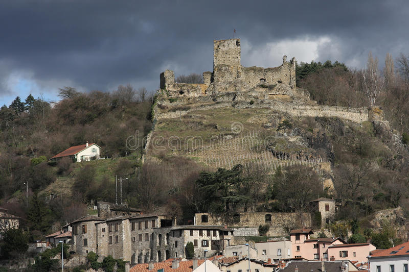 Old Castle On The Hill Royalty Free Stock Photography