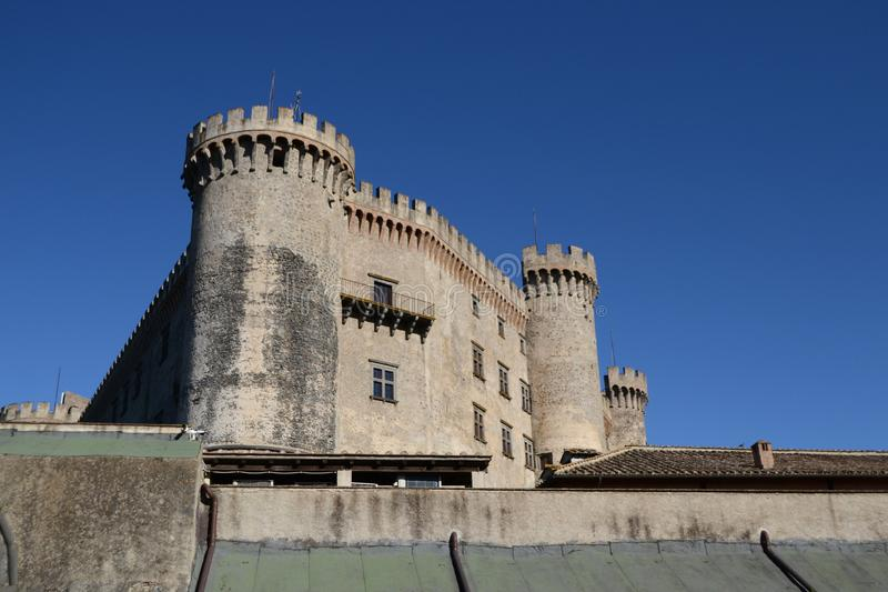 Old castle in an italian village royalty free stock photos