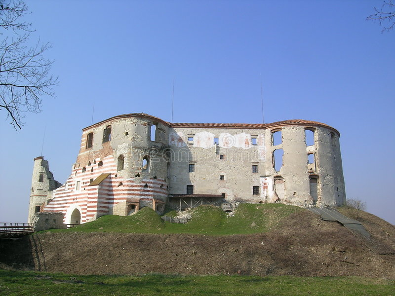 Old castle in Janowiec stock images