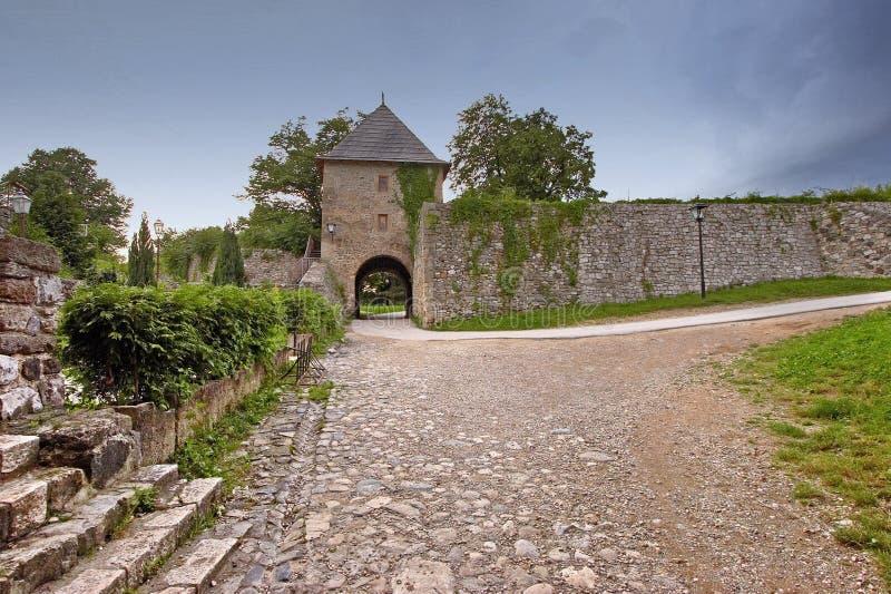 Old castle of Kastel Banjaluka. Old town of Banjaluka medieval Bosnian castle stock images