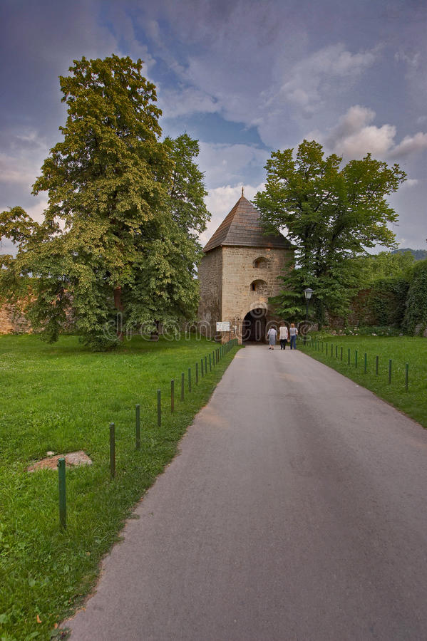 Old castle of Kastel Banjaluka. Old town of Banjaluka medieval Bosnian castle royalty free stock photography