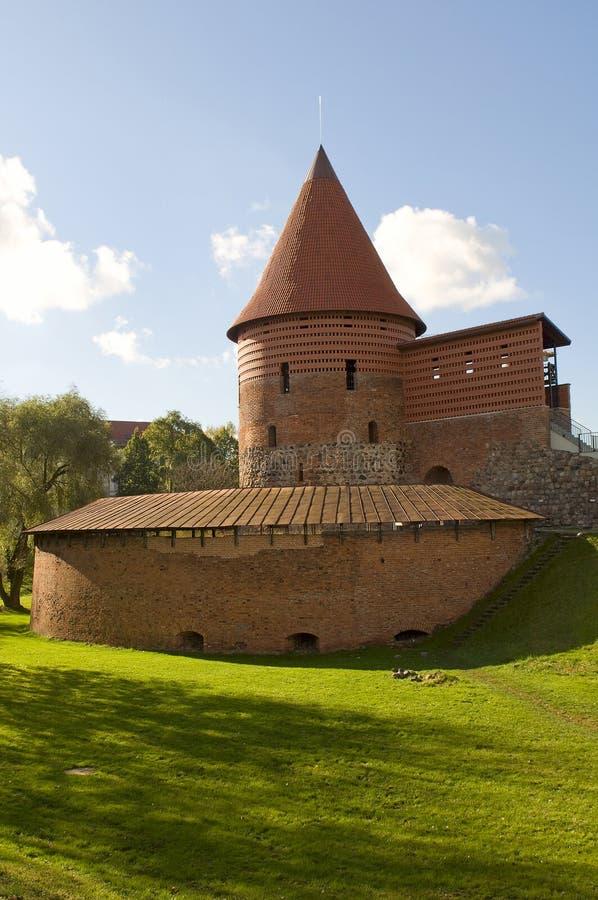 Old castle in Kaunas. stock photos