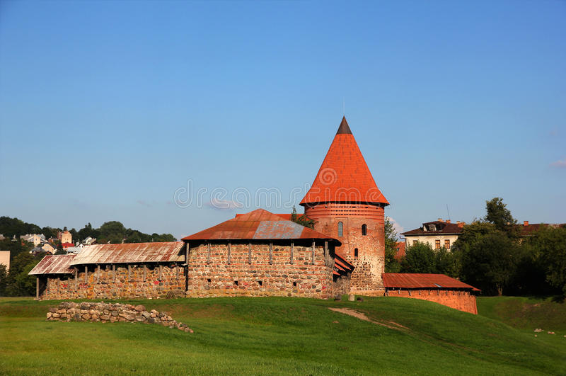 Old castle in Kaunas, Lithuania. Old Gothic castle in Kaunas, Lithuania stock images