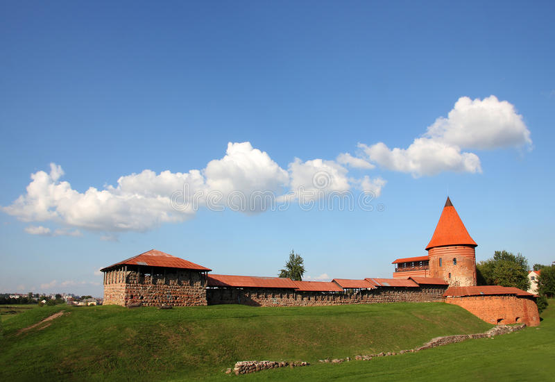 Old castle in Kaunas, Lithuania. Old Gothic castle in Kaunas, Lithuania stock photography