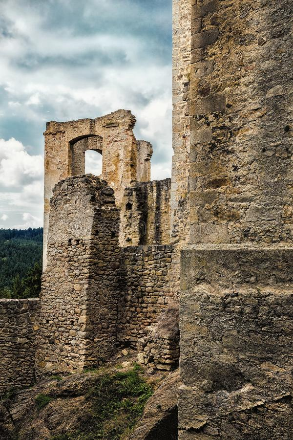 Castle ruins of Landstejn stock photos