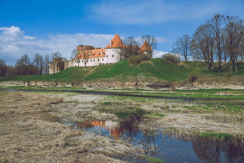 Old castle in Latvia, Bauska, 2017 April. Urban photo, old castle. Travel photo stock image
