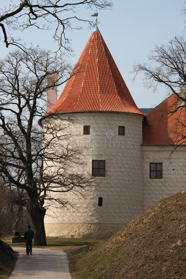 Old castle in Latvia. Bauska, Latvia. Bauska Castle is a complex consisting of the ruins of an earlier castle and a later palace on the outskirts of the Latvian royalty free stock images