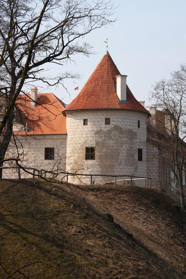 Old castle in Latvia. Bauska, Latvia. Bauska Castle is a complex consisting of the ruins of an earlier castle and a later palace on the outskirts of the Latvian stock photos