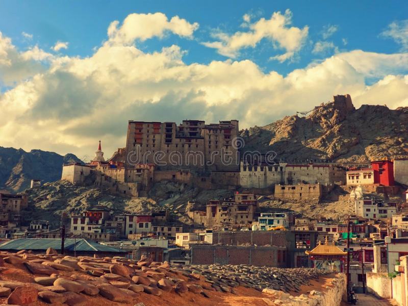 The old castle of Leh stock image