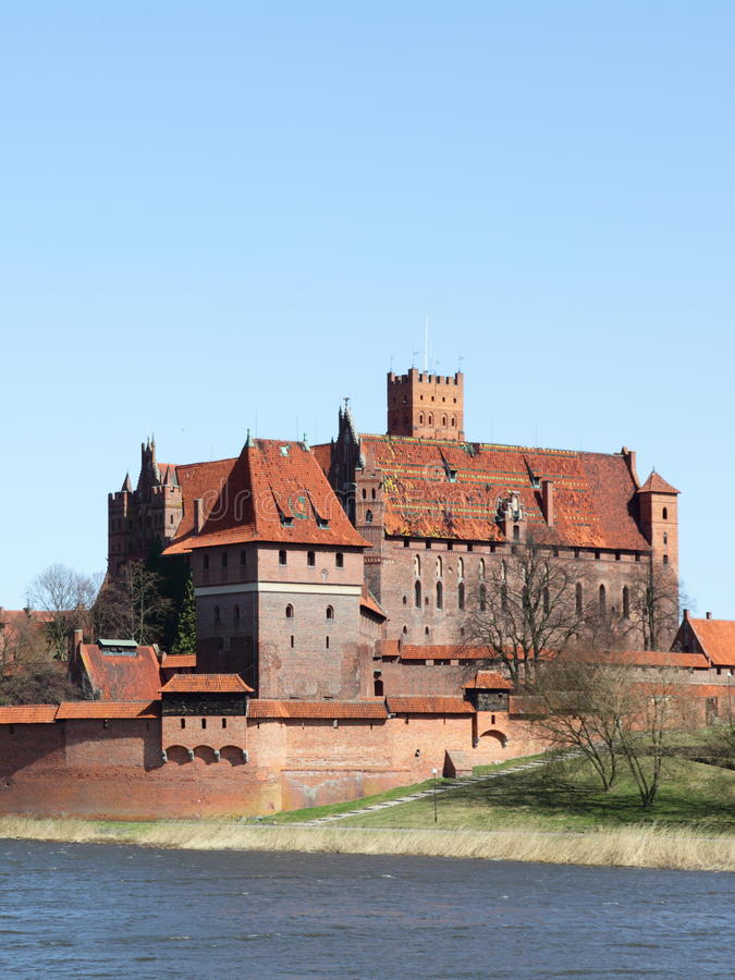 The old castle in Malbork - Poland. Malbork castle in Pomerania region of Poland. UNESCO World Heritage Site. Teutonic Knights' fortress also known as stock photos