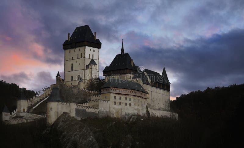 Romantic Fairytale Castle Prague Karlstejn royalty free stock images