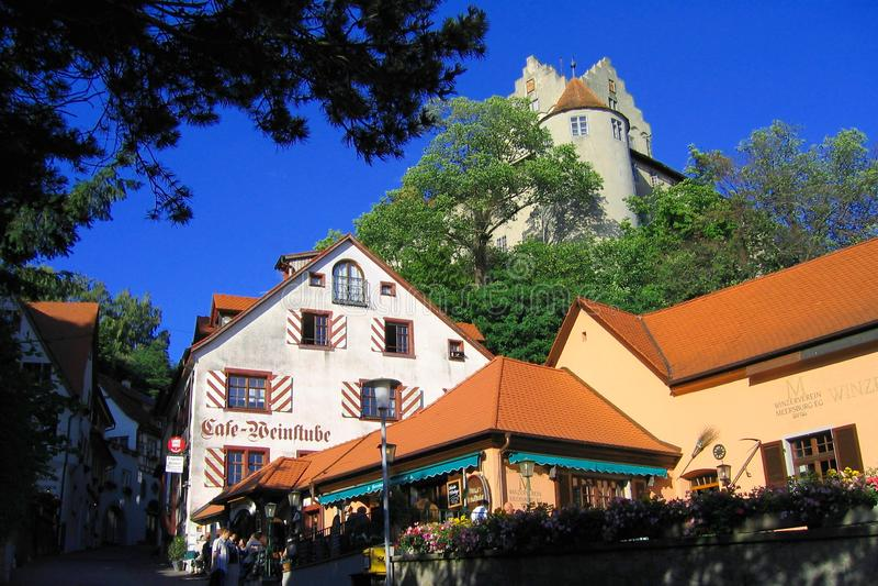 Evening Sun on Dagobertsturm in Meersburg on Lake Constance, Baden-Wuerttemberg, Germany royalty free stock photos