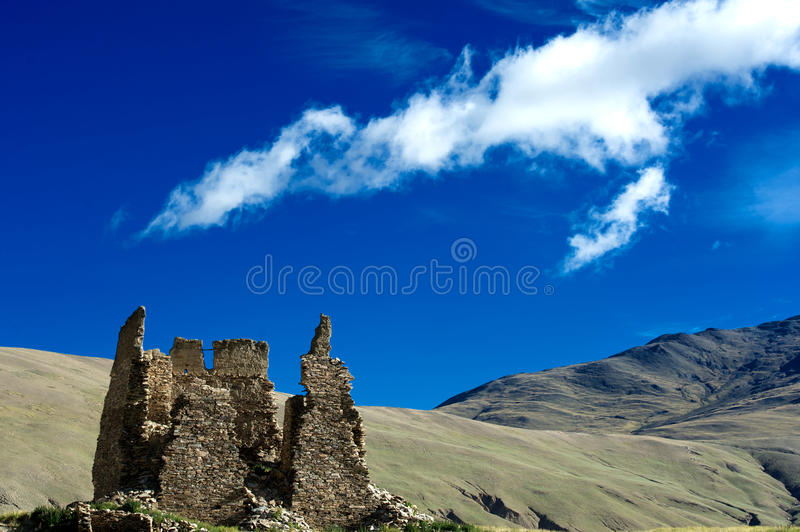 Download Old Castle Before A Mountain Stock Image - Image: 27451835