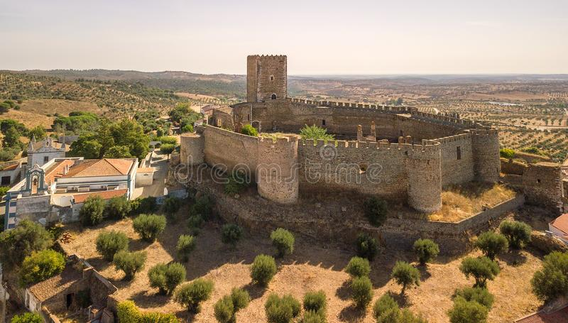 Old castle of Portel,Alentejo region, portugal. royalty free stock images