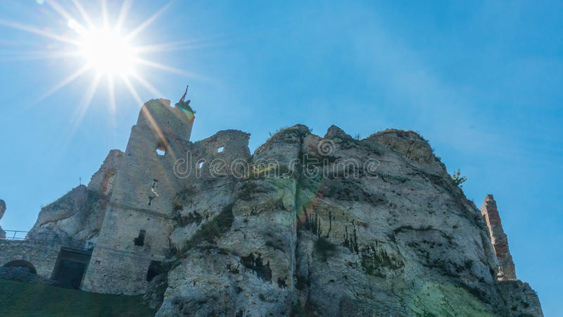 The old castle ruins of Ogrodzieniec stock images