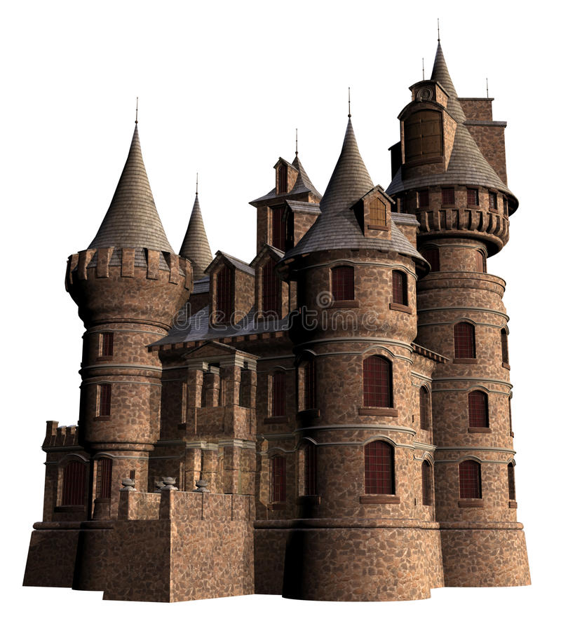 Old castle with towers royalty free illustration
