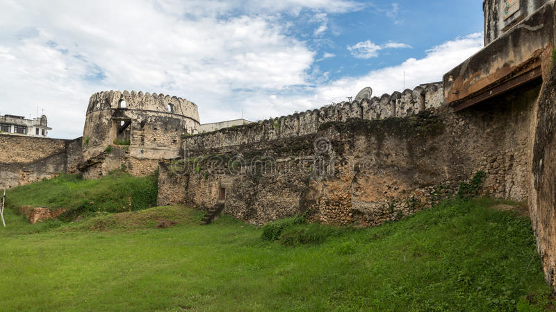 The old castle in Zanzibar royalty free stock photography