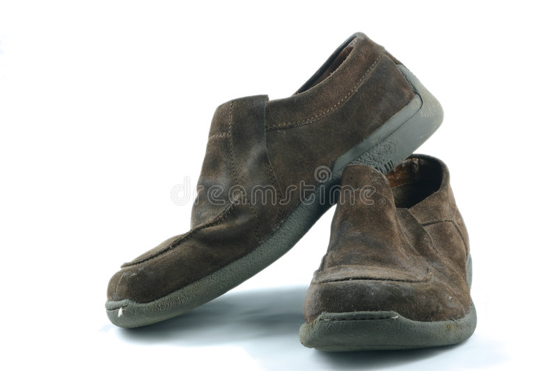 Download Old casual shoes stock image. Image of brown, shoes, used - 1485219