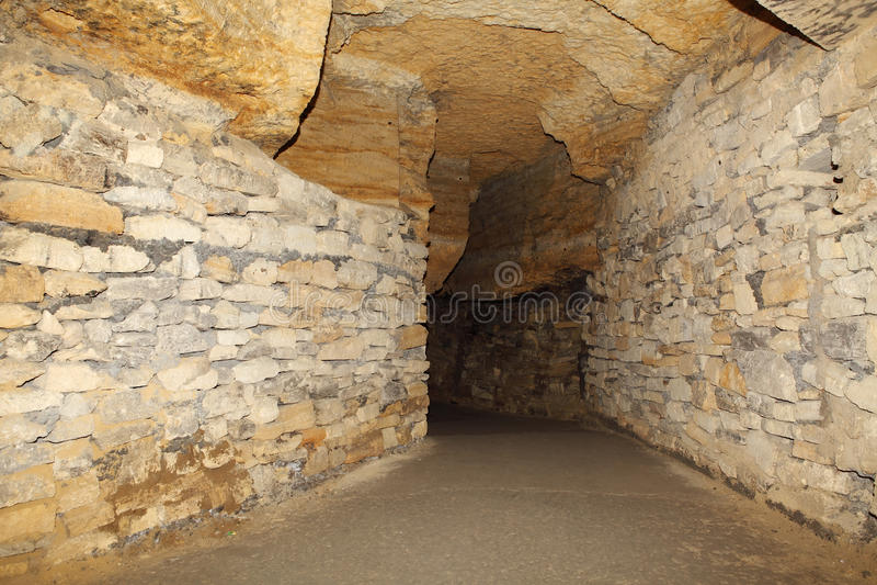 Old Catacombs Odessa, Ukraine (XVIII-XX century) royalty free stock photos