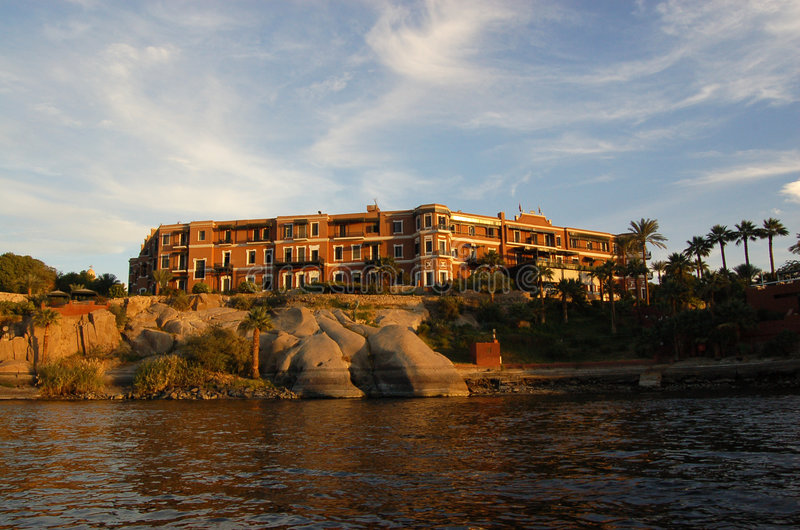 Download Old Cataract Hotel, Aswan stock photo. Image of evening - 7827660