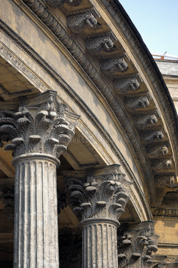 Old cathedral. Columns of an old cathedral royalty free stock photography