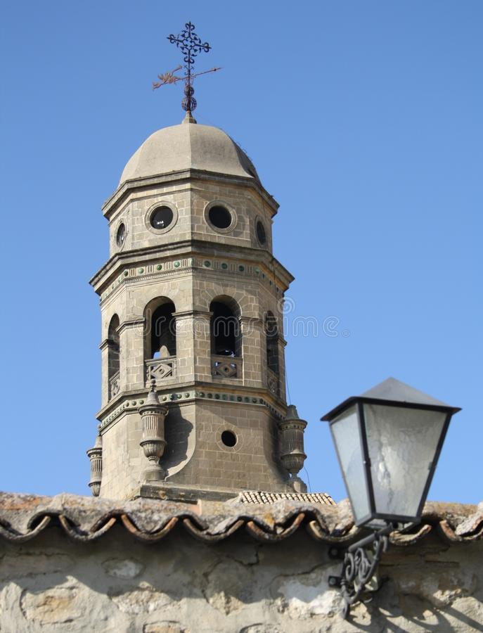OLD CATHEDRAL IN BAEZA. JAEN stock image