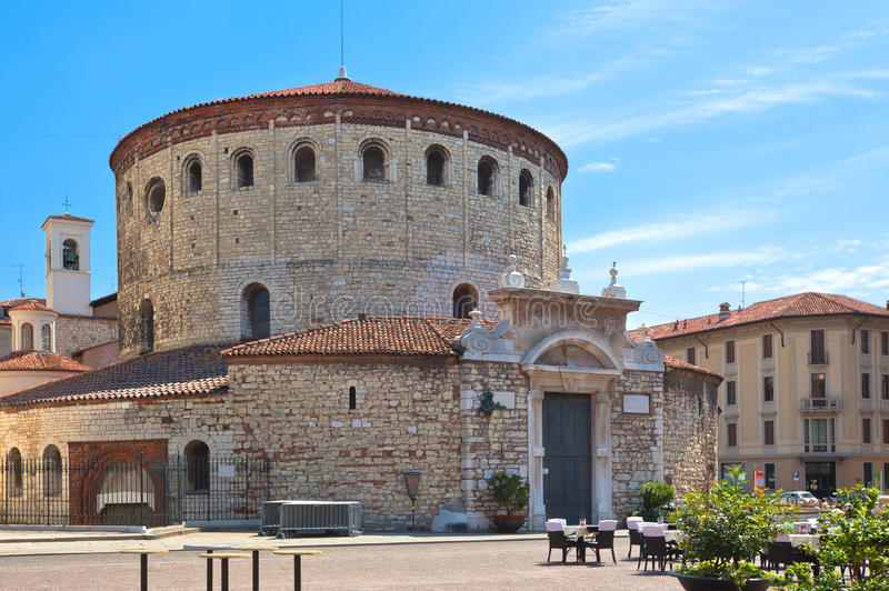 Old Cathedral of Brescia. Brescia (Lombardy, Italy), Historic buildings : old cathedral royalty free stock photography
