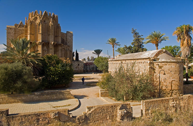 Old cathedral in famagusta,northern cyprus. stock images