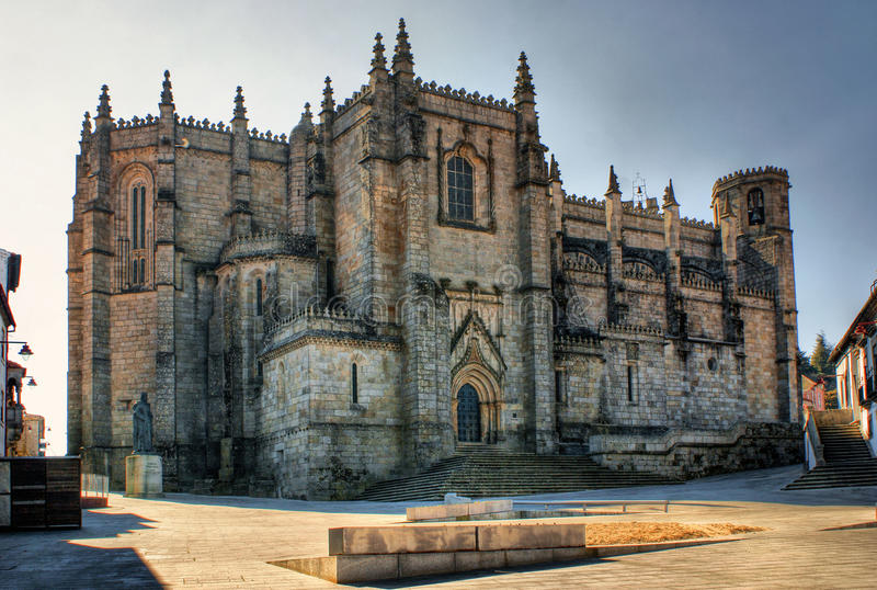Old cathedral in Guarda. Portugal royalty free stock photo
