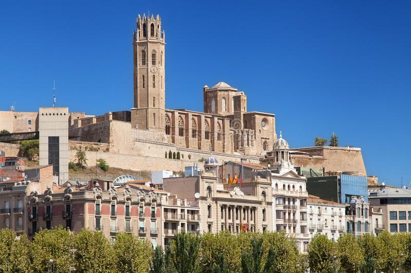 Old Cathedral of Lleida. Catalonia royalty free stock photos
