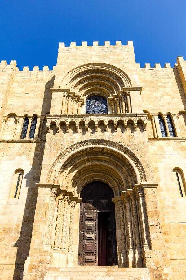 Free Old Cathedral Of Coimbra City  Portugal. Royalty Free Stock Image - 206576226