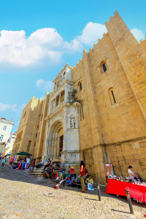 Free Old Cathedral Of Coimbra City Portugal. Royalty Free Stock Photo - 206578295