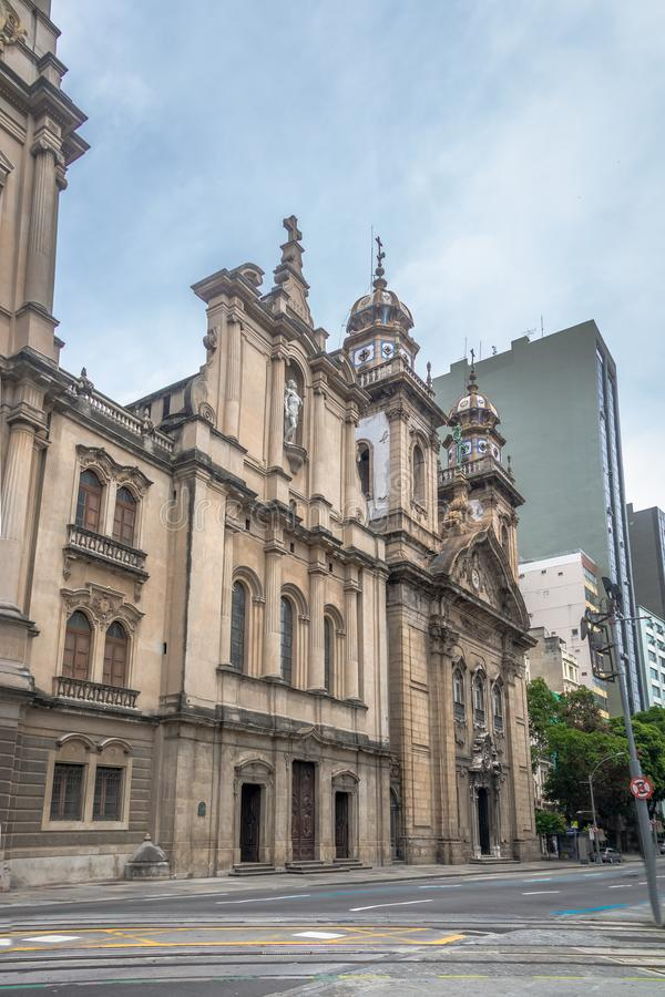 Old Cathedral of Rio de Janeiro - Church of Our Lady of Mount Carmel of the Ancient Se - Rio de Janeiro, Brazil stock photography