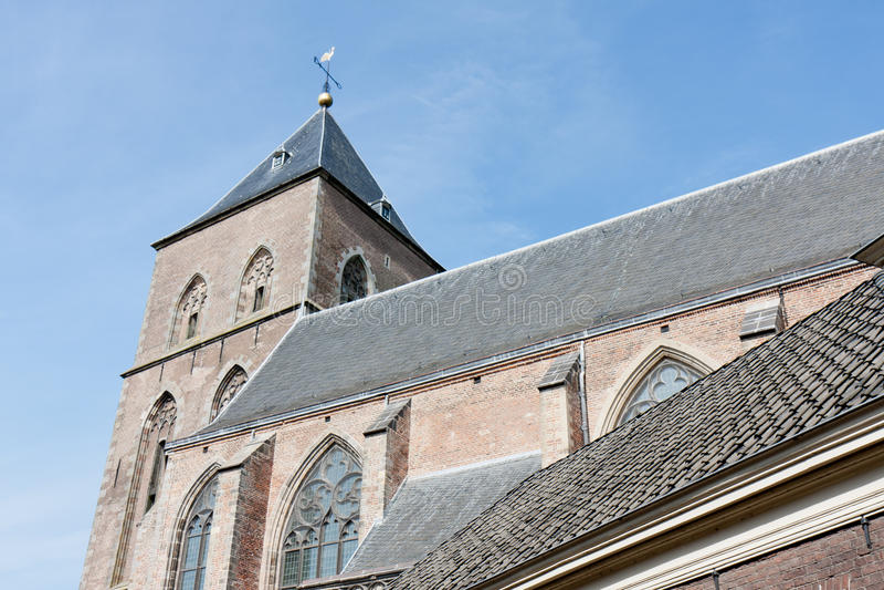 Old catholic church in a Dutch medieval city