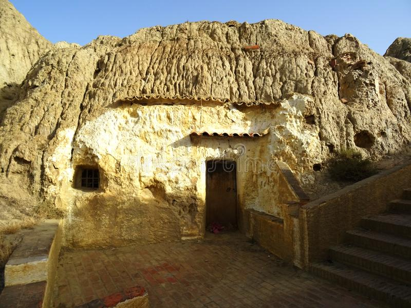 Old cave house in Guadix. Spain. royalty free stock photos