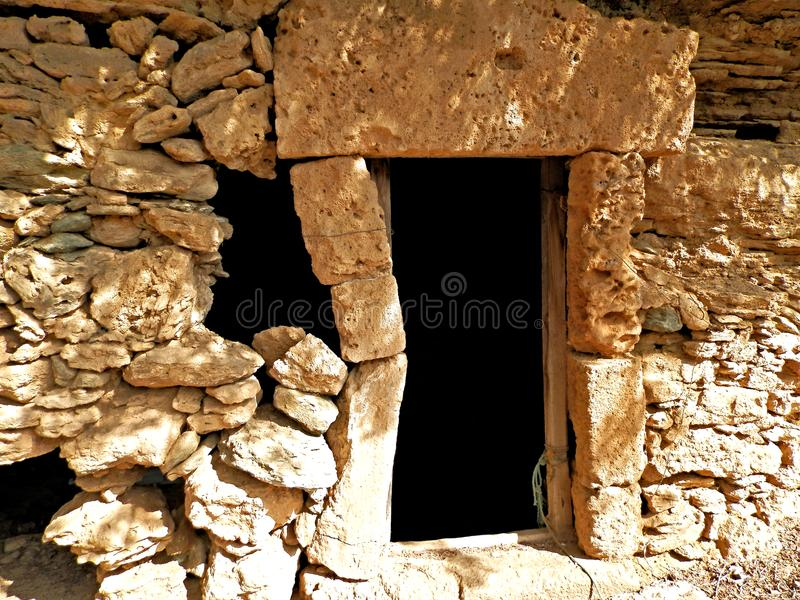 Old cave in the rock royalty free stock image