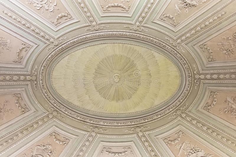 Old ceiling. An old ceiling in an italian royal house royalty free stock image