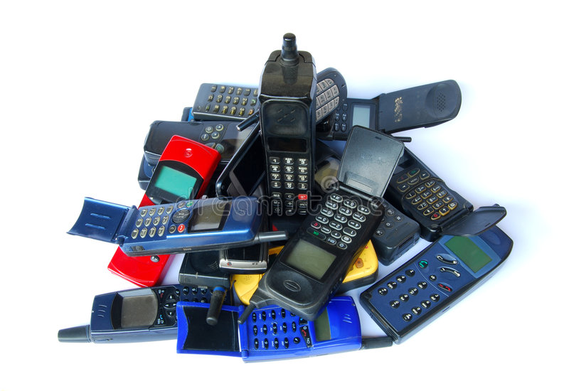 Download Old cell phones stock image. Image of cellular, recycled - 5894487