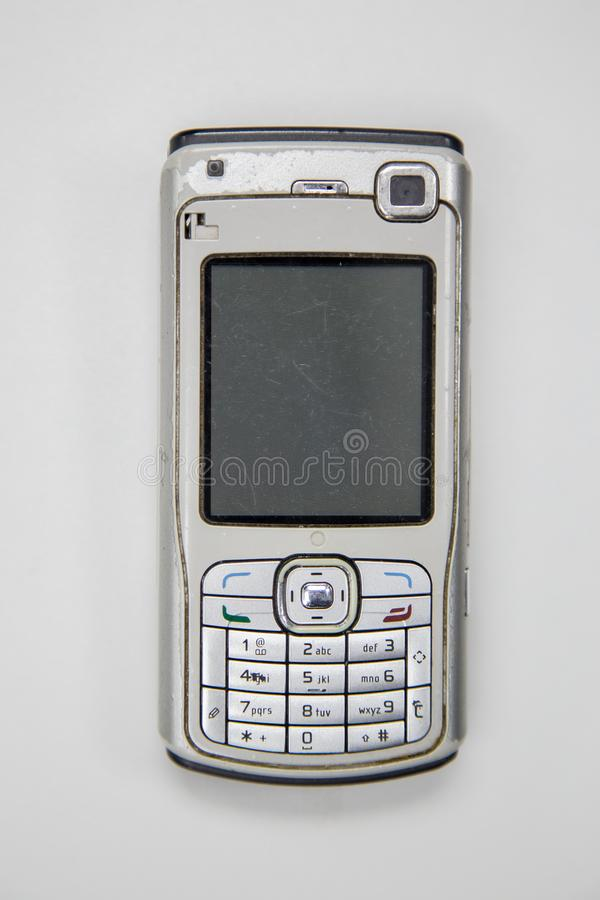 An old cellphone device in the past stock photo