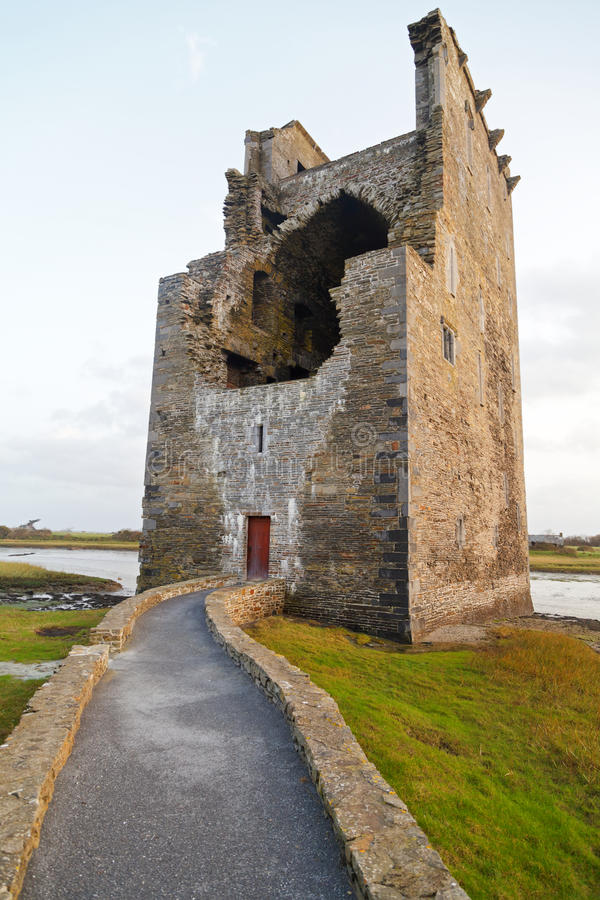 Old celtic castle royalty free stock image