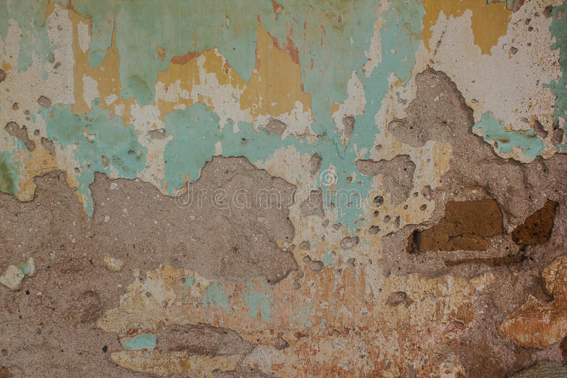 Old cement and brick wall cracked vintage background. Old cement wall cracked vintage background. Texture background surface broken cement wall stock photos