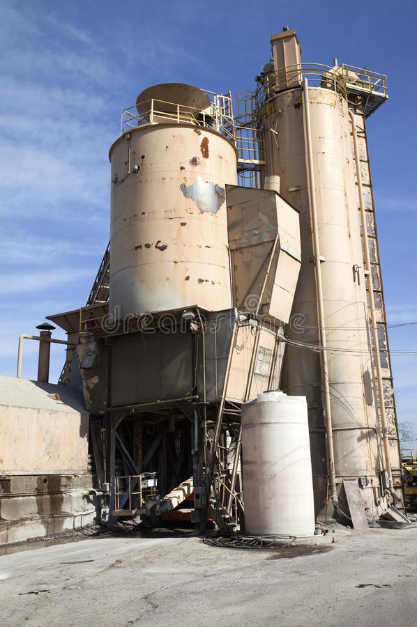 Old cement dispenser structure, Portland OR. stock photos