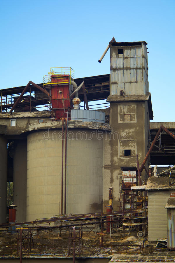 Old Cement Factory Stock Image. Image Of Industrial, Pipes