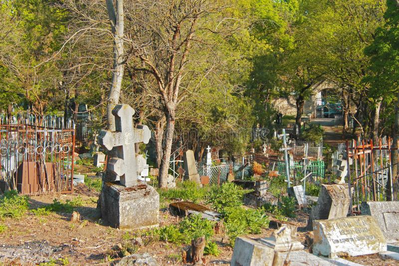 The Old cemetary. Historical part of Pyatigorsk. Russian Federation royalty free stock photography