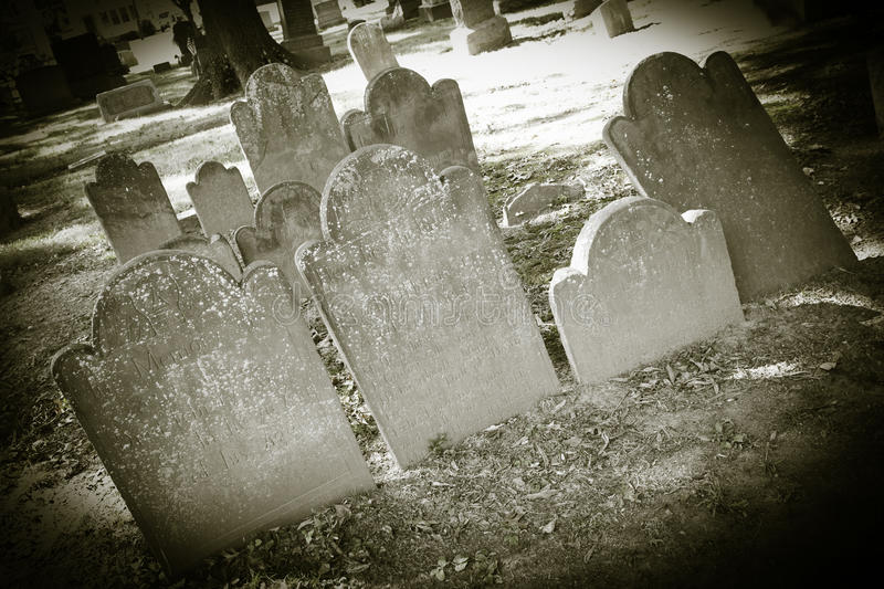Old Cemeteries - Tombstone Closeups royalty free stock photo